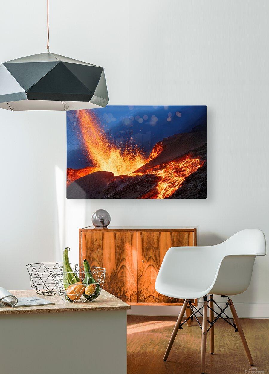 Hot Landscape  HD Metal print with Floating Frame on Back