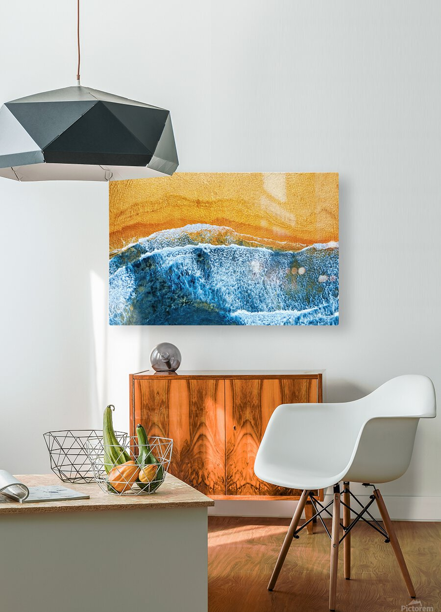 Golden Beach I  HD Metal print with Floating Frame on Back
