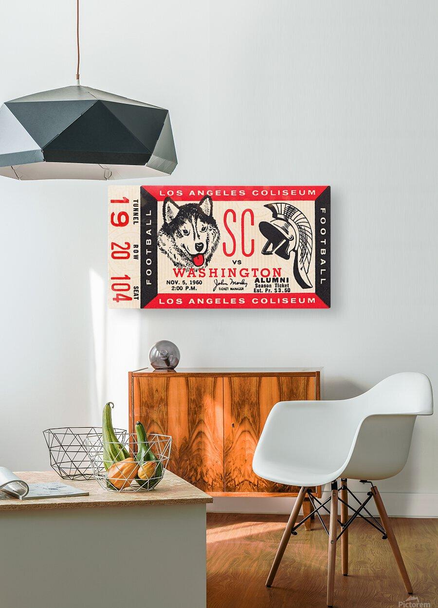 1960 USC Trojans vs. Washington Huskies  HD Metal print with Floating Frame on Back