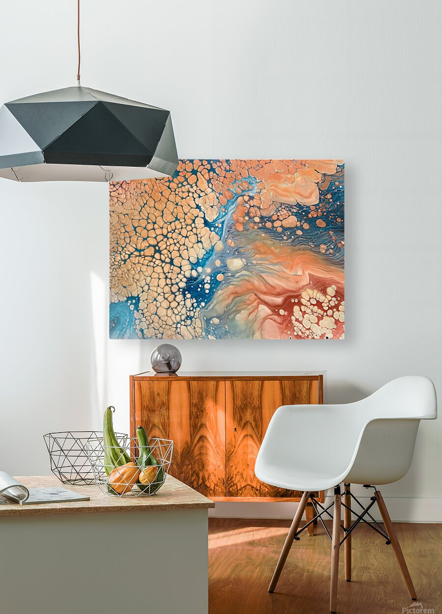 Coral Reef Abstract  HD Metal print with Floating Frame on Back