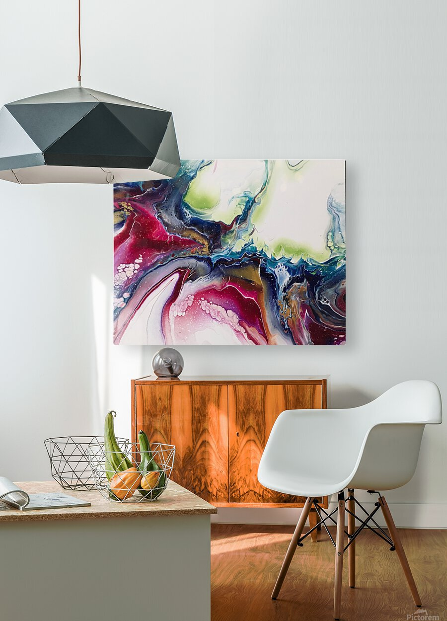 Dichotemy Abstract  HD Metal print with Floating Frame on Back