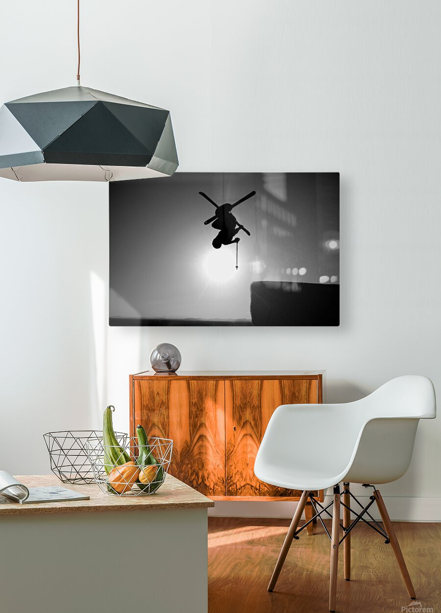 Icarus  HD Metal print with Floating Frame on Back