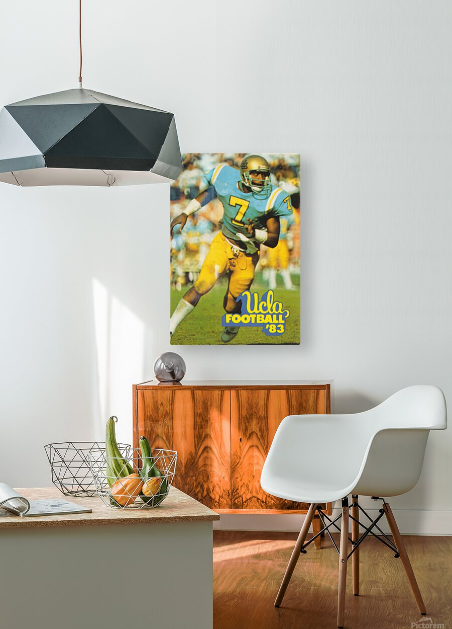 1983 UCLA Bruins Football Poster  HD Metal print with Floating Frame on Back