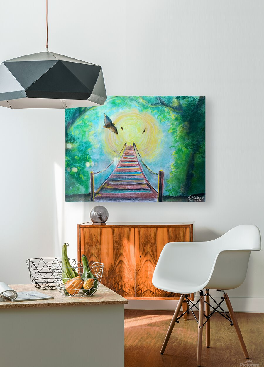 The Bridge To Next Tuesday  HD Metal print with Floating Frame on Back