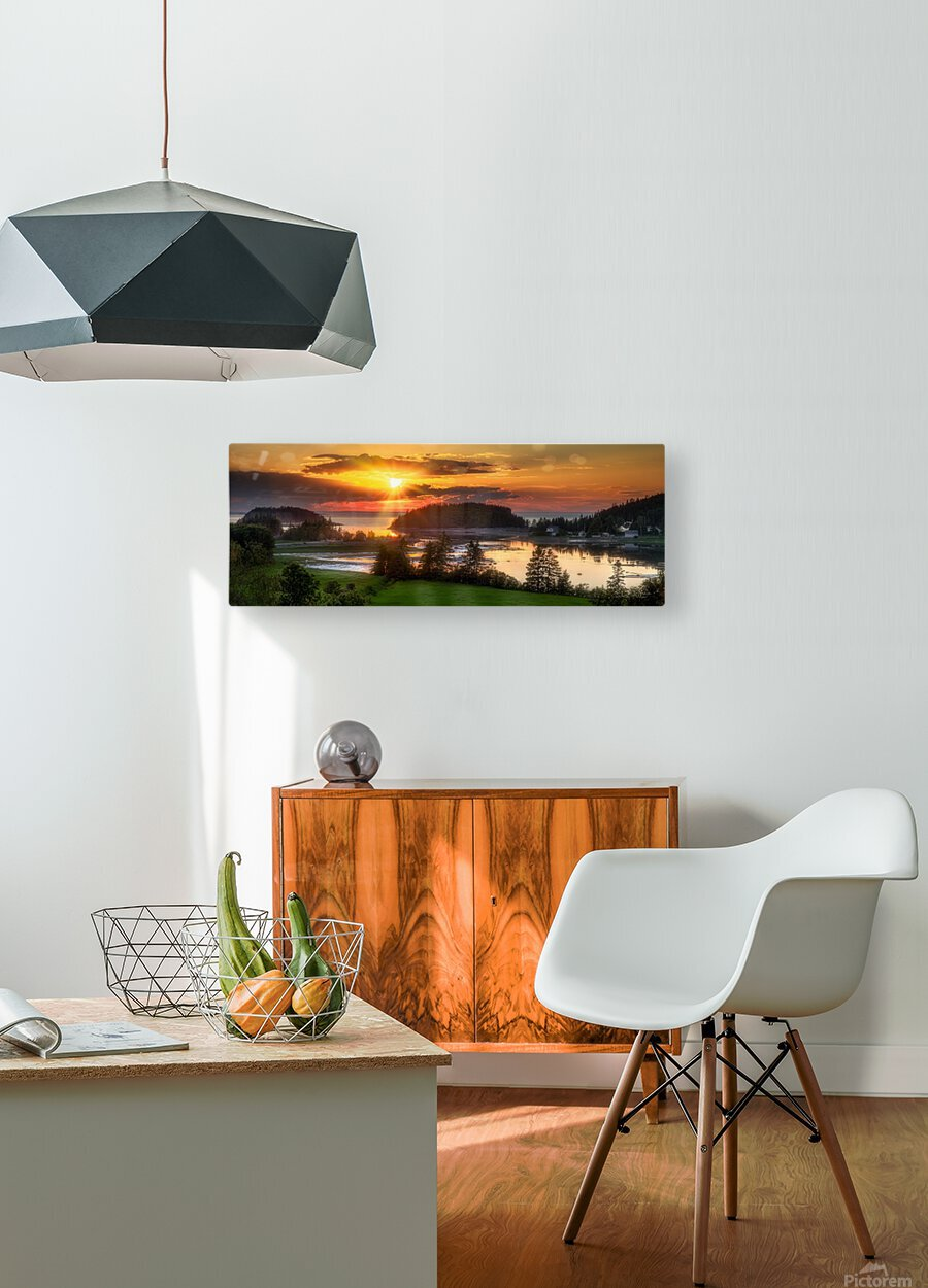 Coucher de soleil au Bic  HD Metal print with Floating Frame on Back