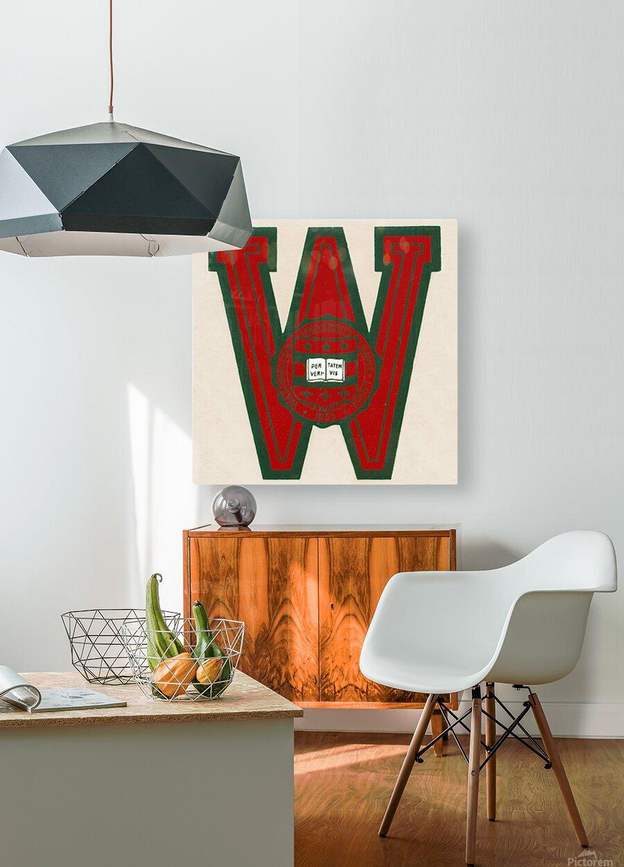 Vintage Fifties Washington University in Saint Louis  HD Metal print with Floating Frame on Back