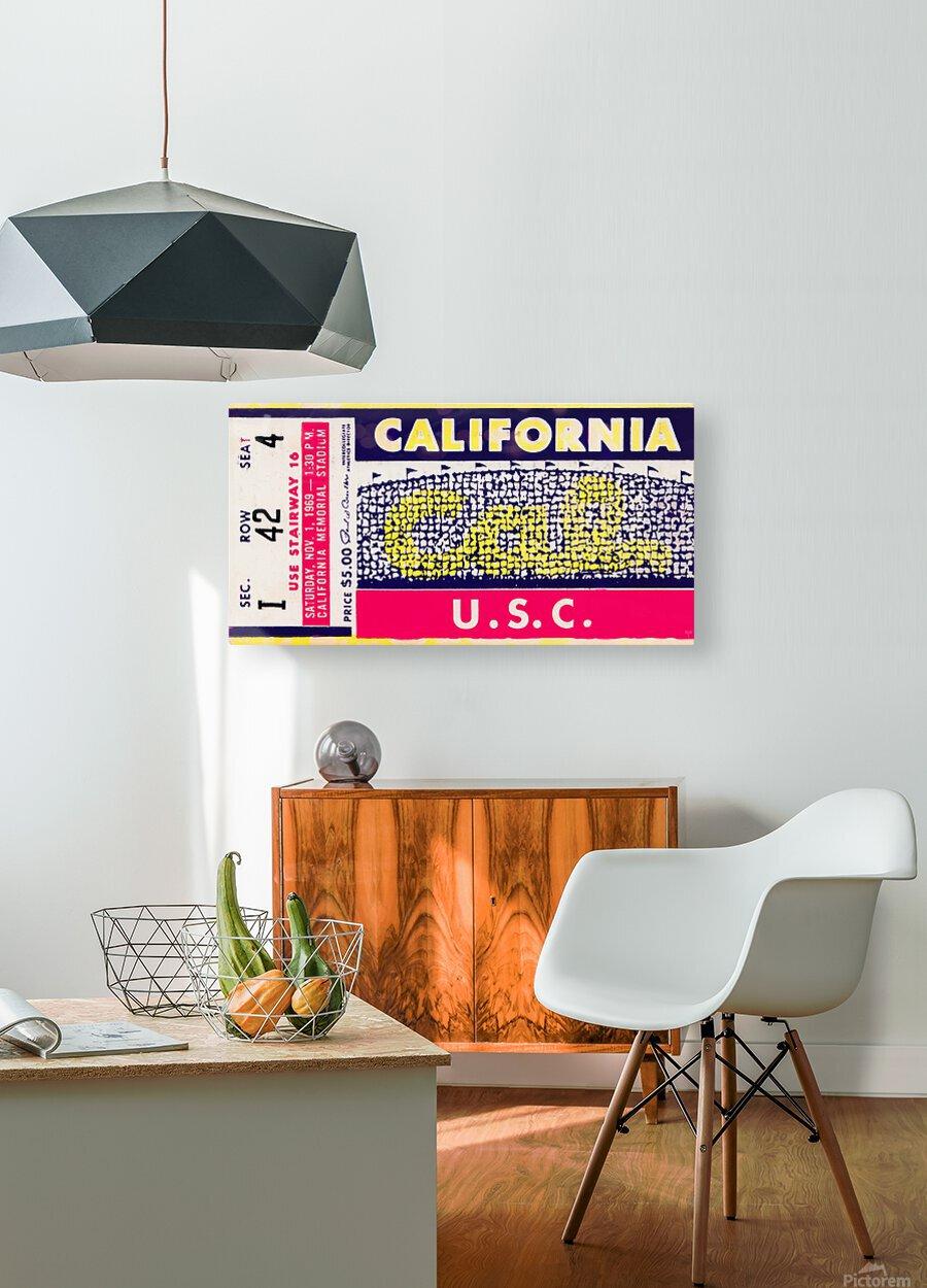 1969 Cal Bears vs. USC Trojans  HD Metal print with Floating Frame on Back
