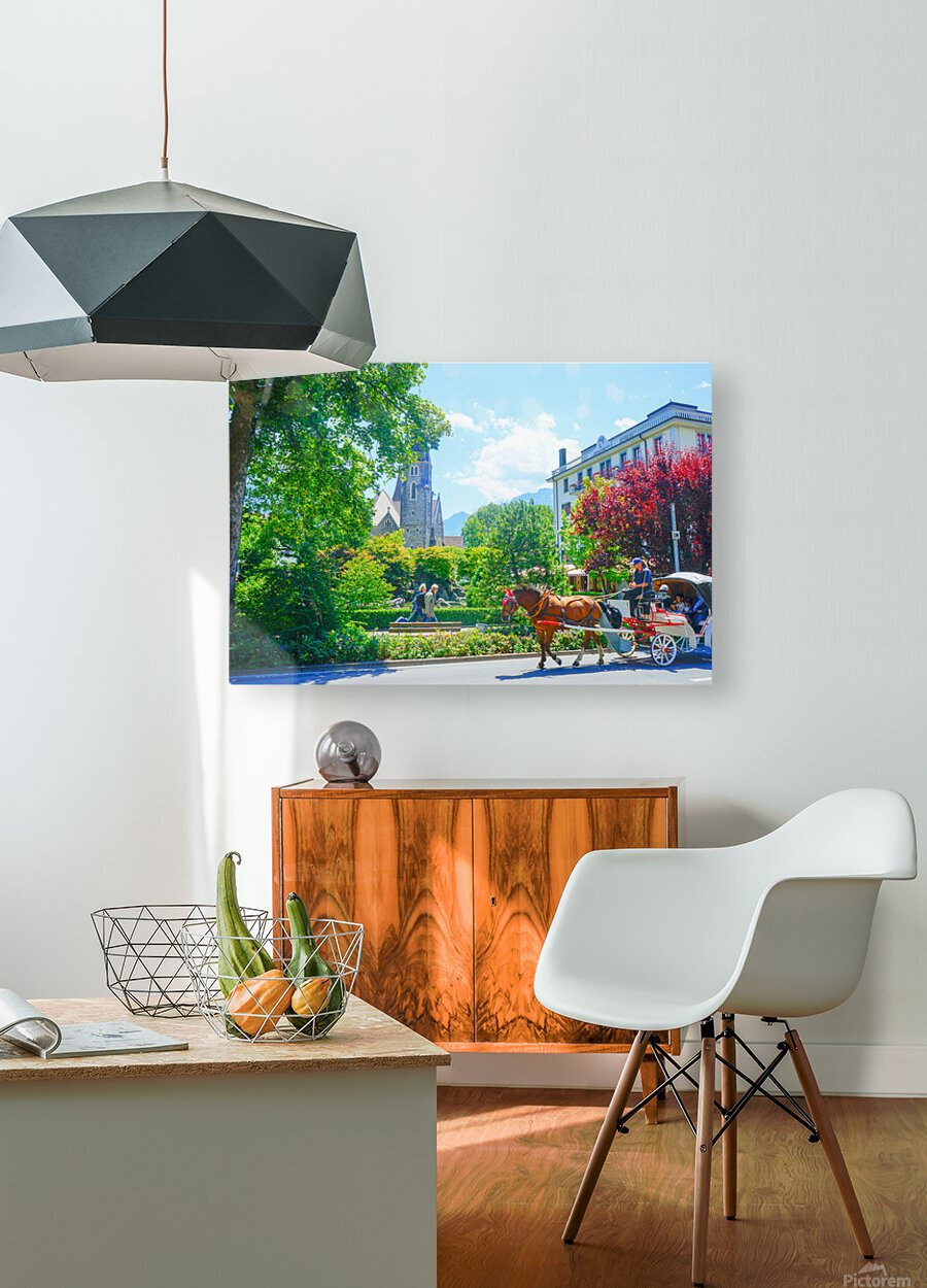 One Day in Interlaken Switzerland 1 of 3  HD Metal print with Floating Frame on Back