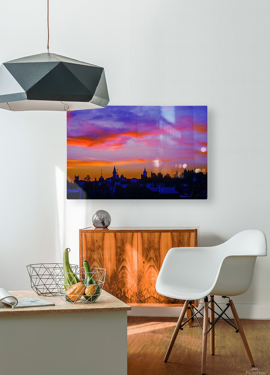One Fine Summer Evening at Sunset in Lucerne Switzerland  HD Metal print with Floating Frame on Back