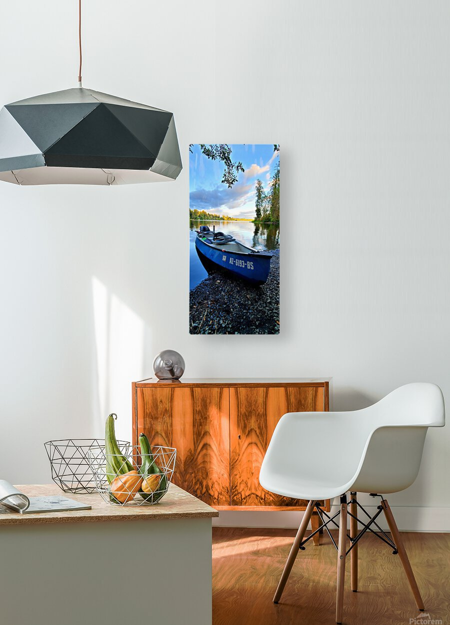 On the water  HD Metal print with Floating Frame on Back