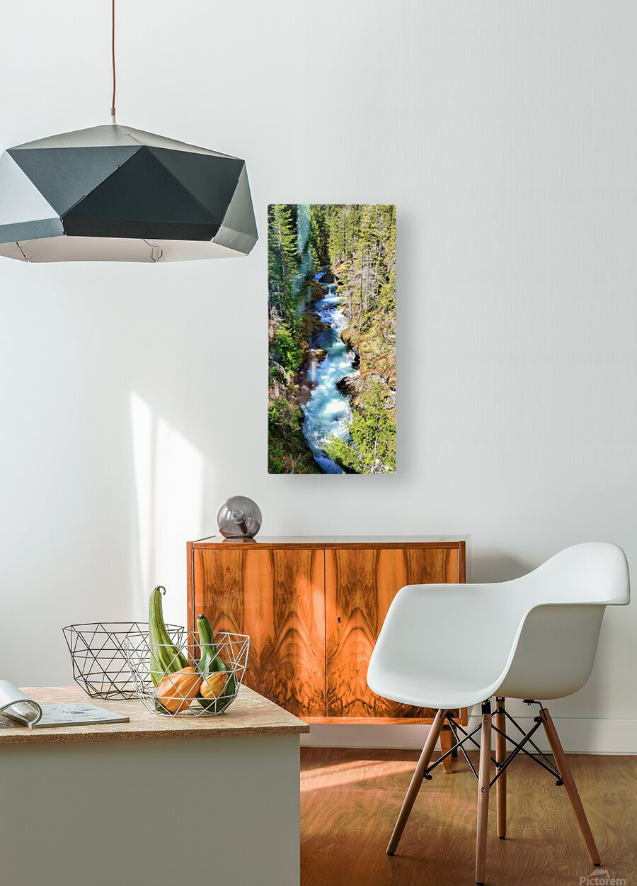 Falls  HD Metal print with Floating Frame on Back