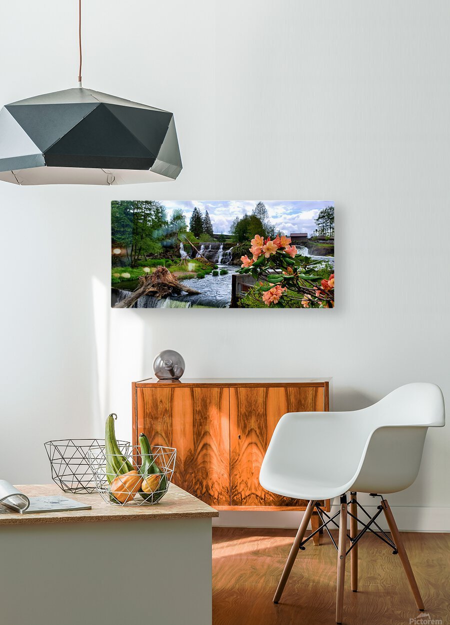 Tumwater Falls  HD Metal print with Floating Frame on Back
