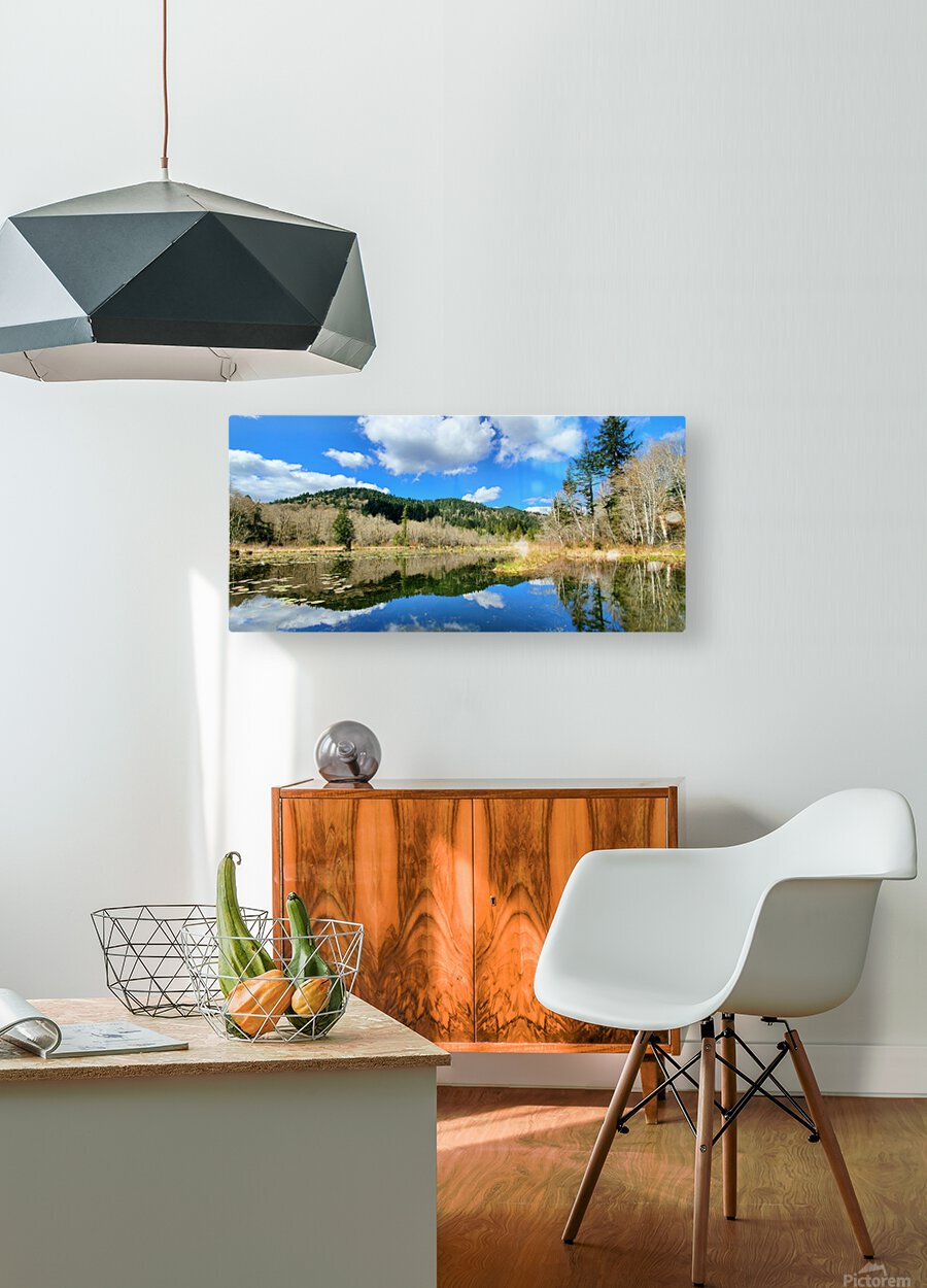 Lay of the land  HD Metal print with Floating Frame on Back