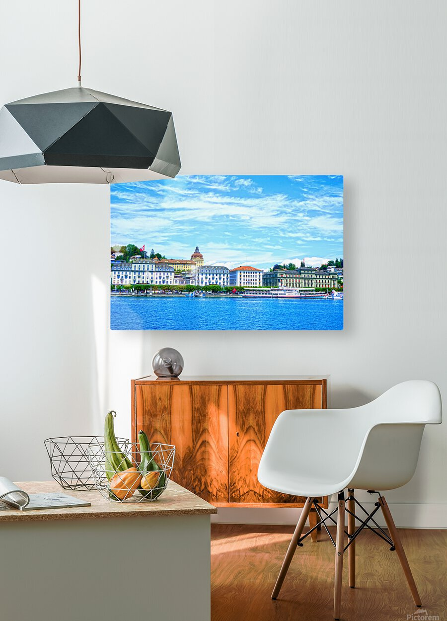 Waterfront   Lucerne Switzerland 2 of 3  HD Metal print with Floating Frame on Back