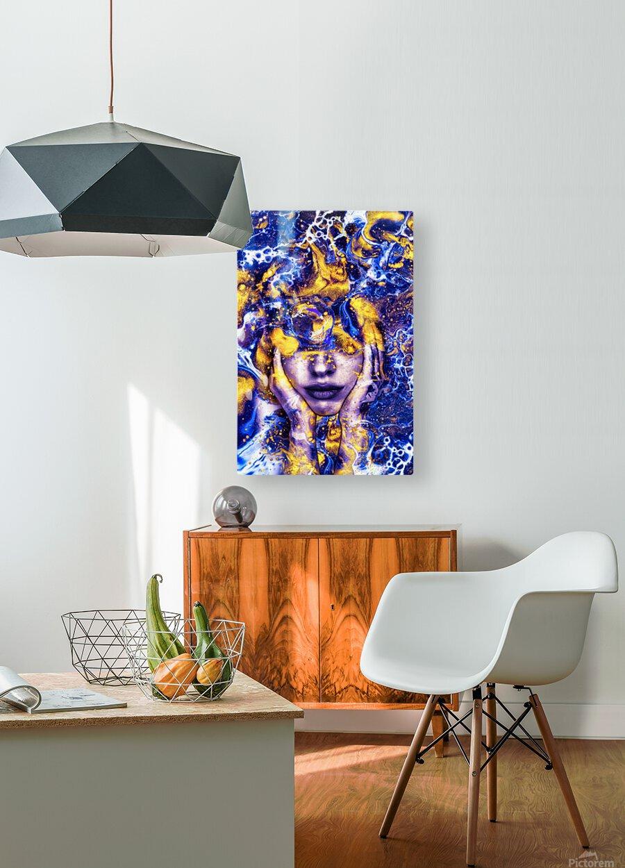 Endless Thoughts  HD Metal print with Floating Frame on Back