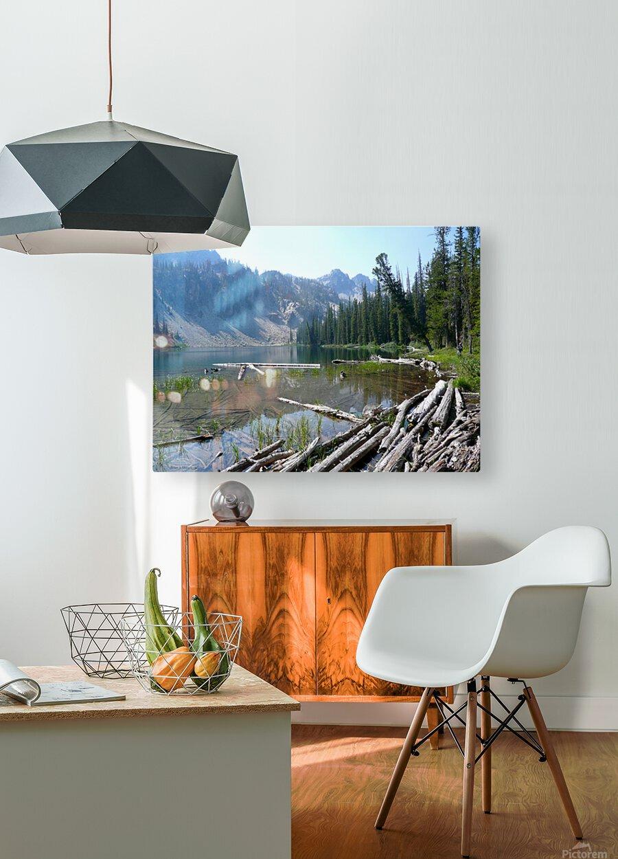 Sawtooth Lake  HD Metal print with Floating Frame on Back
