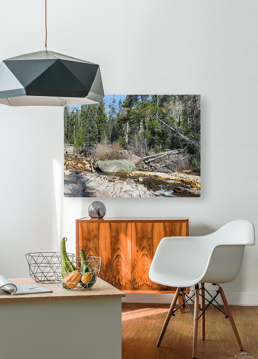 Upper Provo River  HD Metal print with Floating Frame on Back