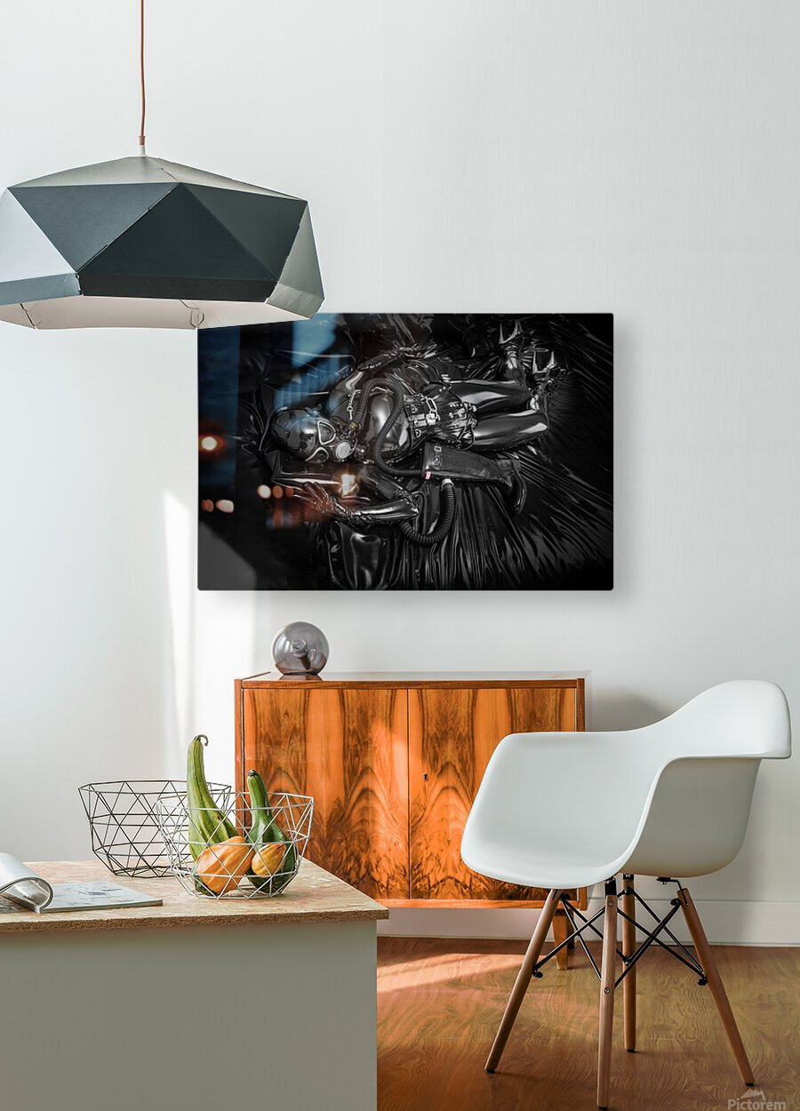 Totally Enclosed MsPervology  HD Metal print with Floating Frame on Back