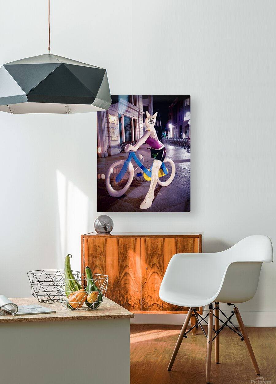 One Night In Brussels  HD Metal print with Floating Frame on Back