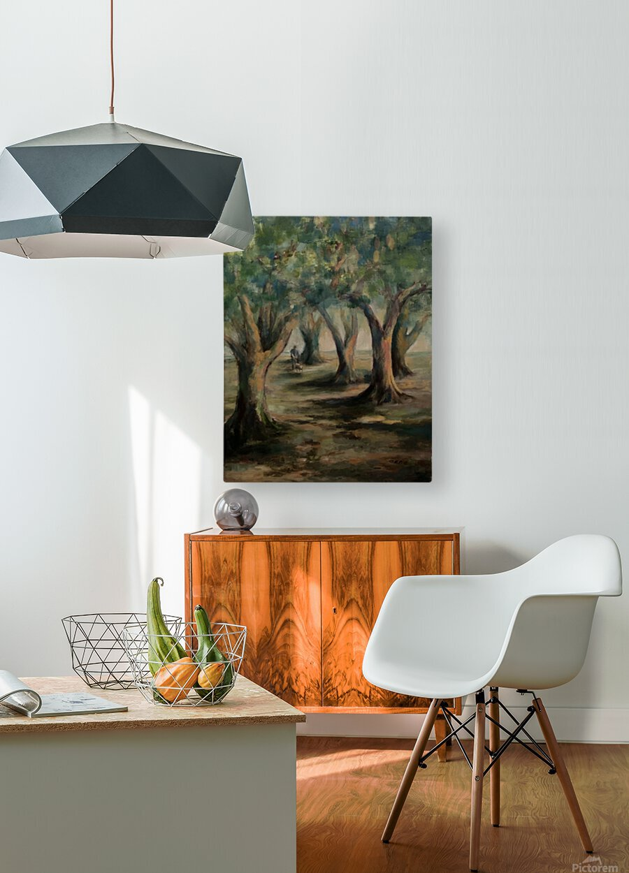 Oak trees  HD Metal print with Floating Frame on Back