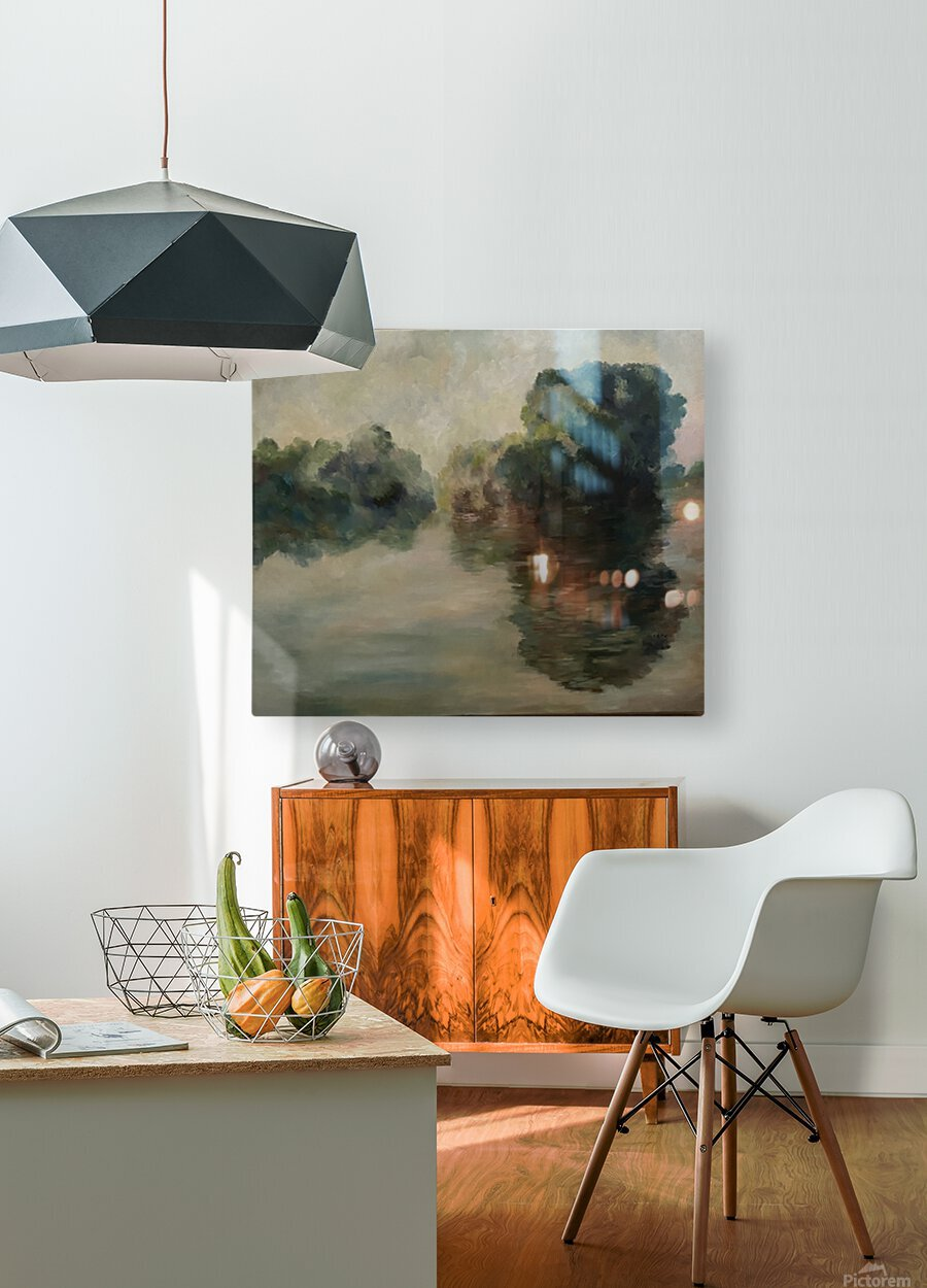 Monet study two  HD Metal print with Floating Frame on Back