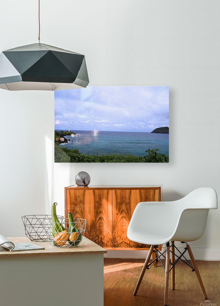 Ninini Point Lighthouse Kauai Hawaii  HD Metal print with Floating Frame on Back