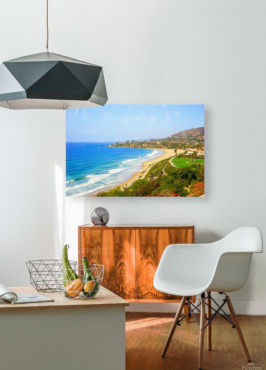 Beautiful Coastal View Newport Beach California 1 of 2  HD Metal print with Floating Frame on Back