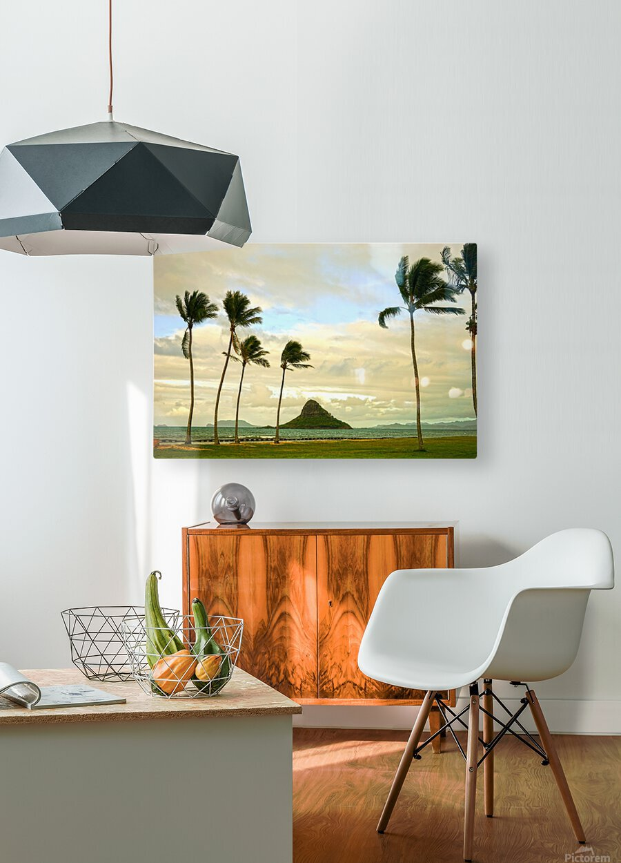 The Island of Mokoli  i from Oahu at Sunset  HD Metal print with Floating Frame on Back