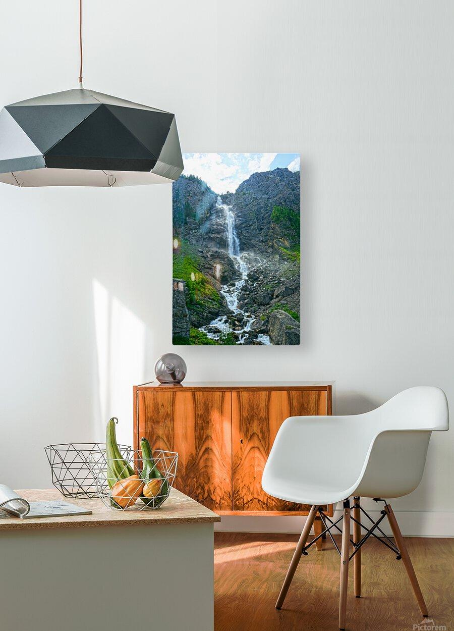 Engstligen Falls Adelboden Switzerland in the Bernese Highlands  HD Metal print with Floating Frame on Back