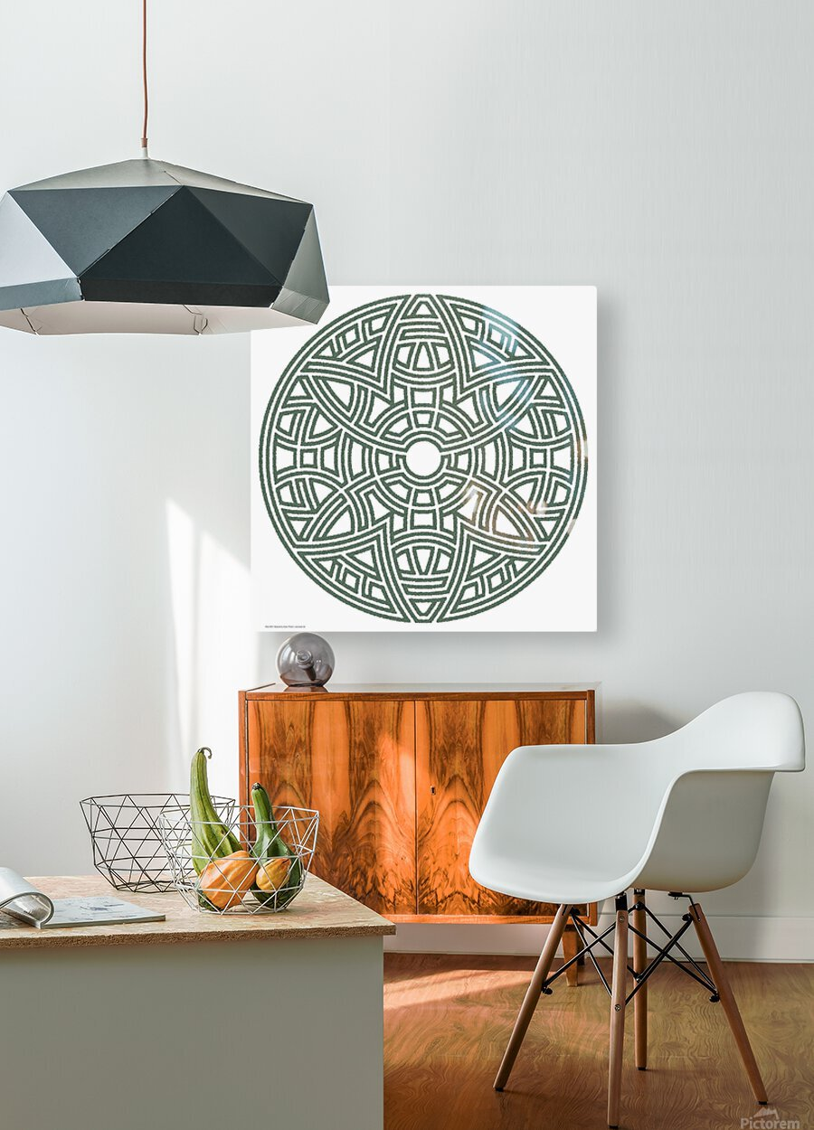 Maze 4810  HD Metal print with Floating Frame on Back