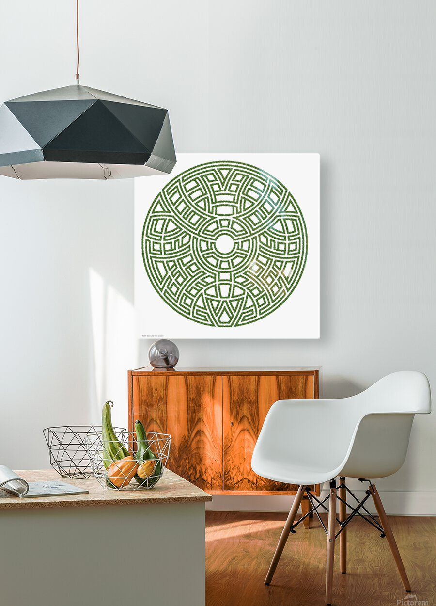 Maze 4812  HD Metal print with Floating Frame on Back