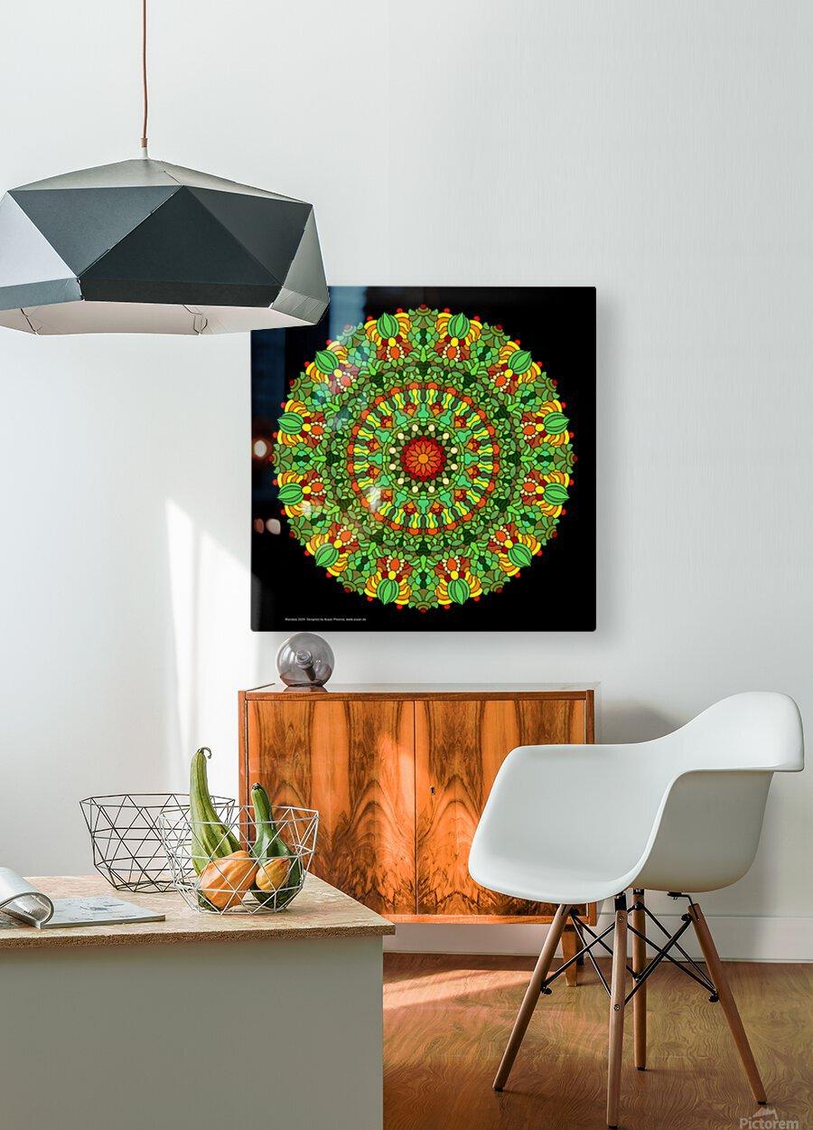 Mandala 2029  HD Metal print with Floating Frame on Back