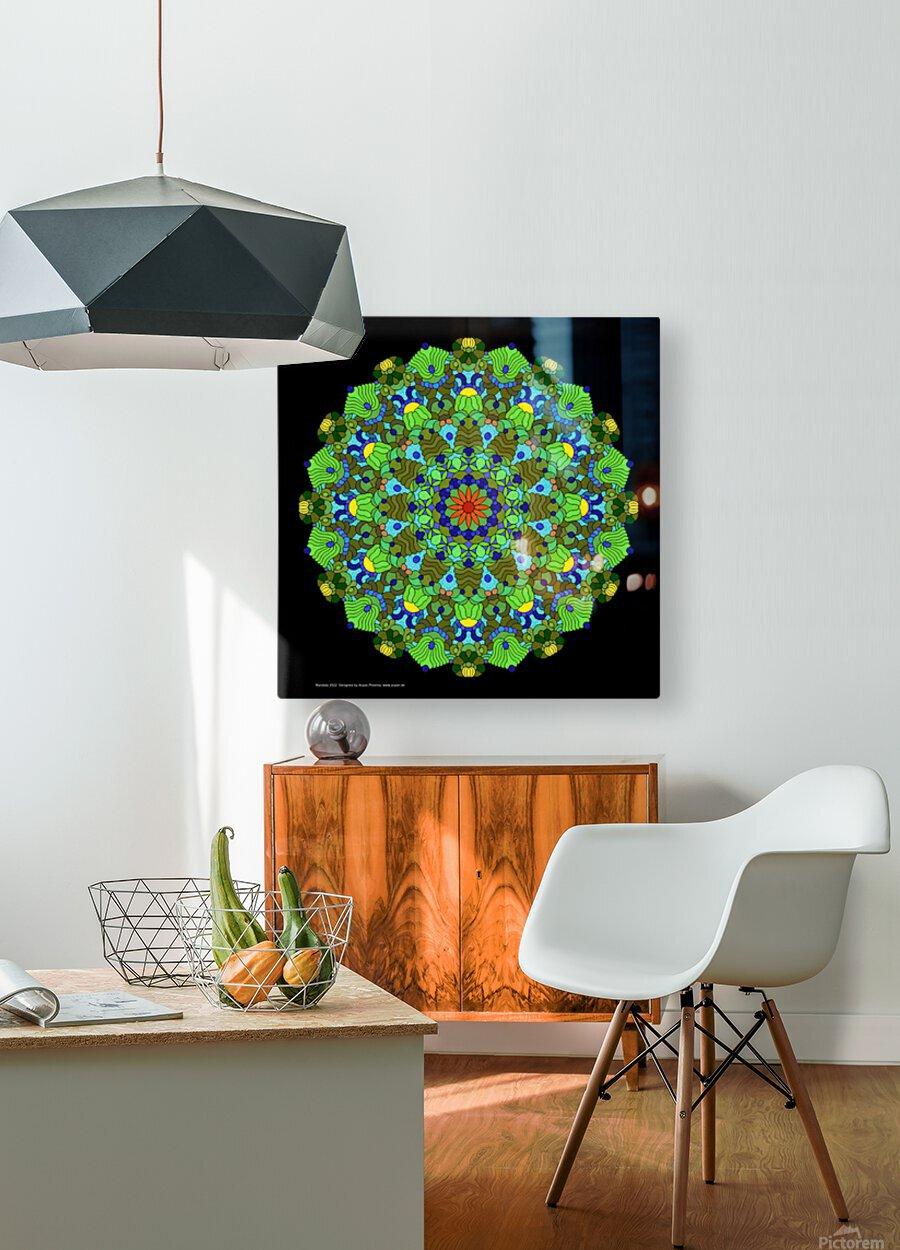 Mandala 2022  HD Metal print with Floating Frame on Back