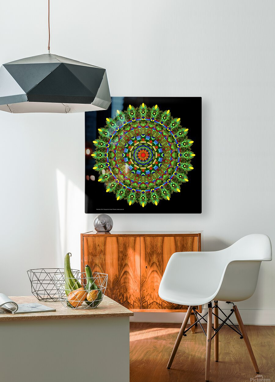 Mandala 2014  HD Metal print with Floating Frame on Back