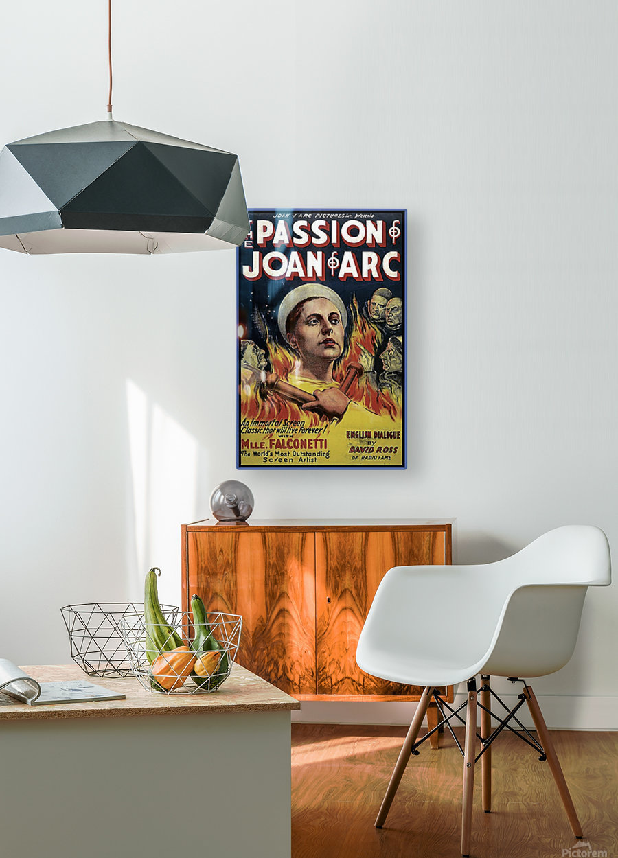 The Passion of Joan of Arc 1928 Ad  HD Metal print with Floating Frame on Back