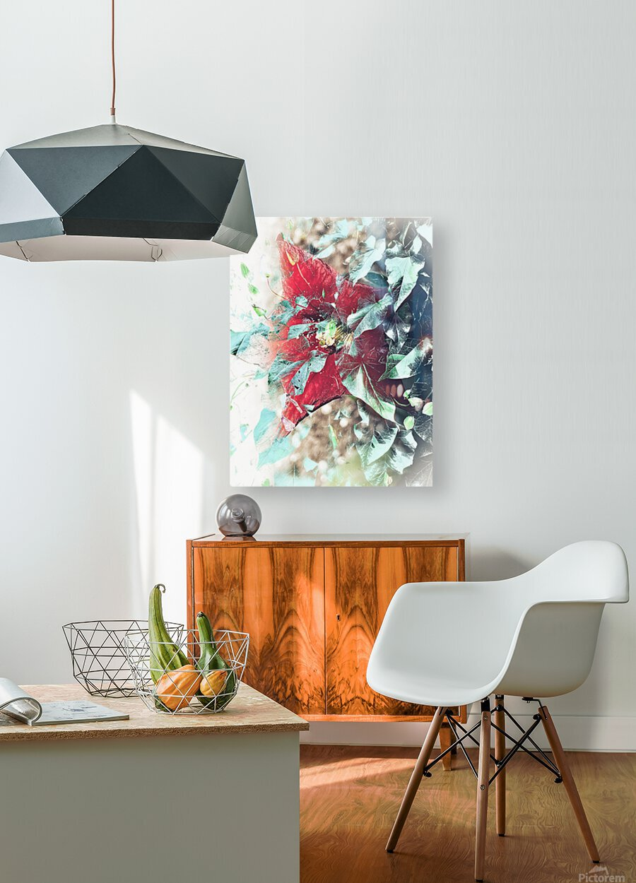 Scarlett Pimpernel with Vine  HD Metal print with Floating Frame on Back