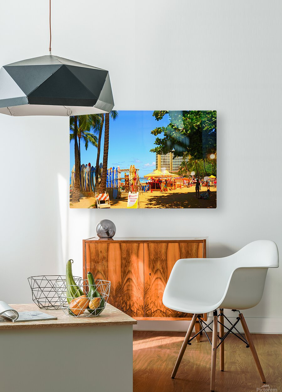 Waikiki Snapshot in Time 2 of 4  HD Metal print with Floating Frame on Back