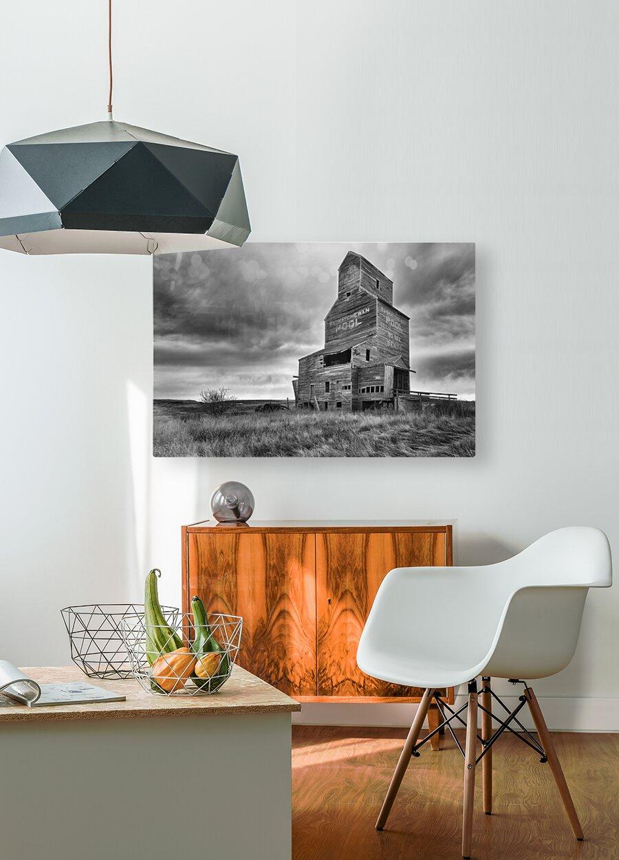 Grain Elevator  HD Metal print with Floating Frame on Back