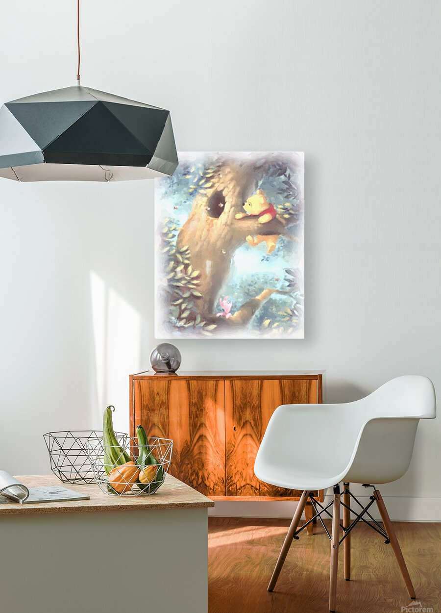 Curious Bear   HD Metal print with Floating Frame on Back
