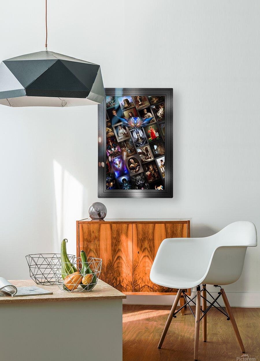 Xzendor7 Digital Classical Vintage Art Matrix Color  HD Metal print with Floating Frame on Back