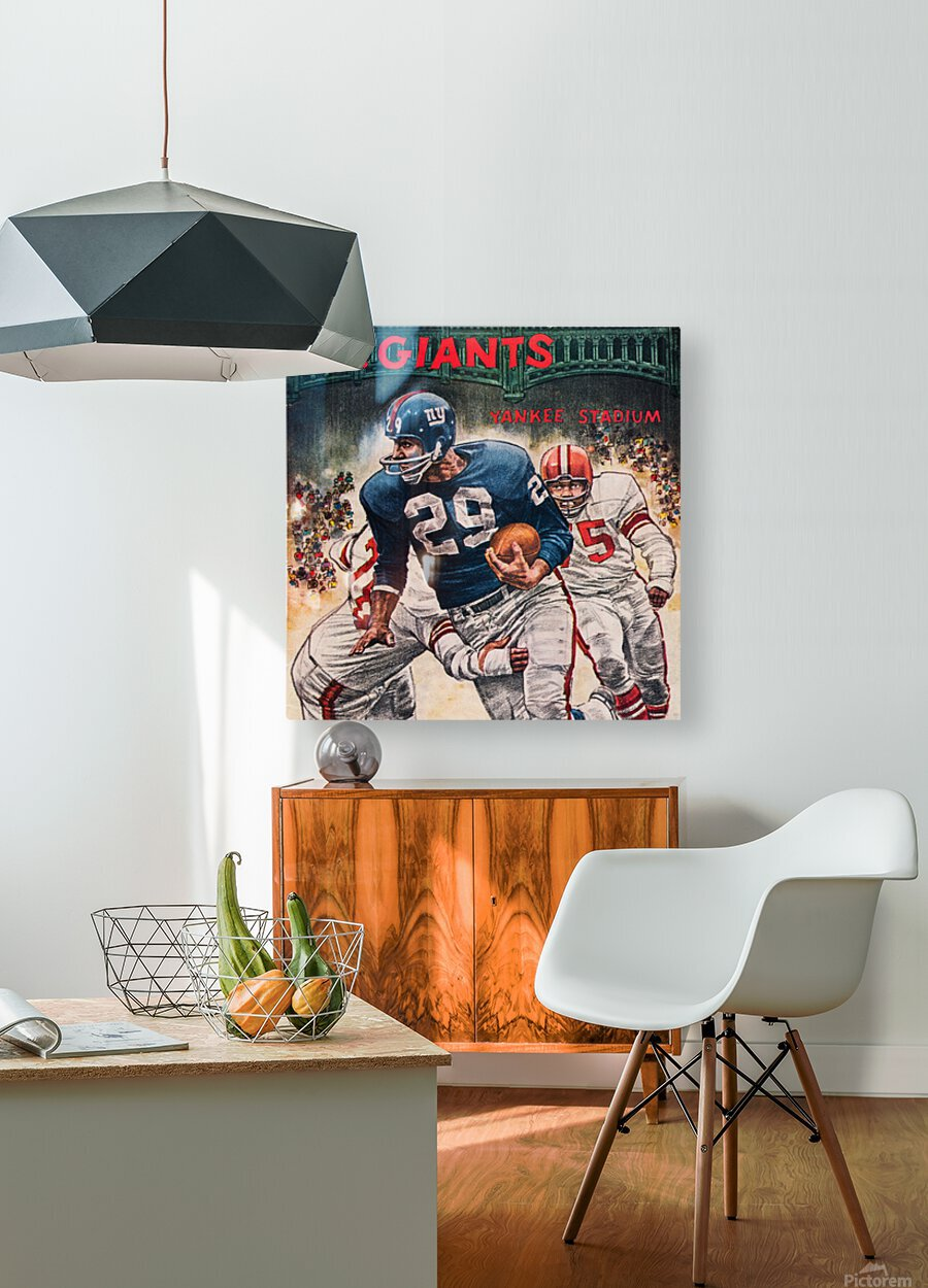 1962 Robert Riger New York Giants Art  HD Metal print with Floating Frame on Back