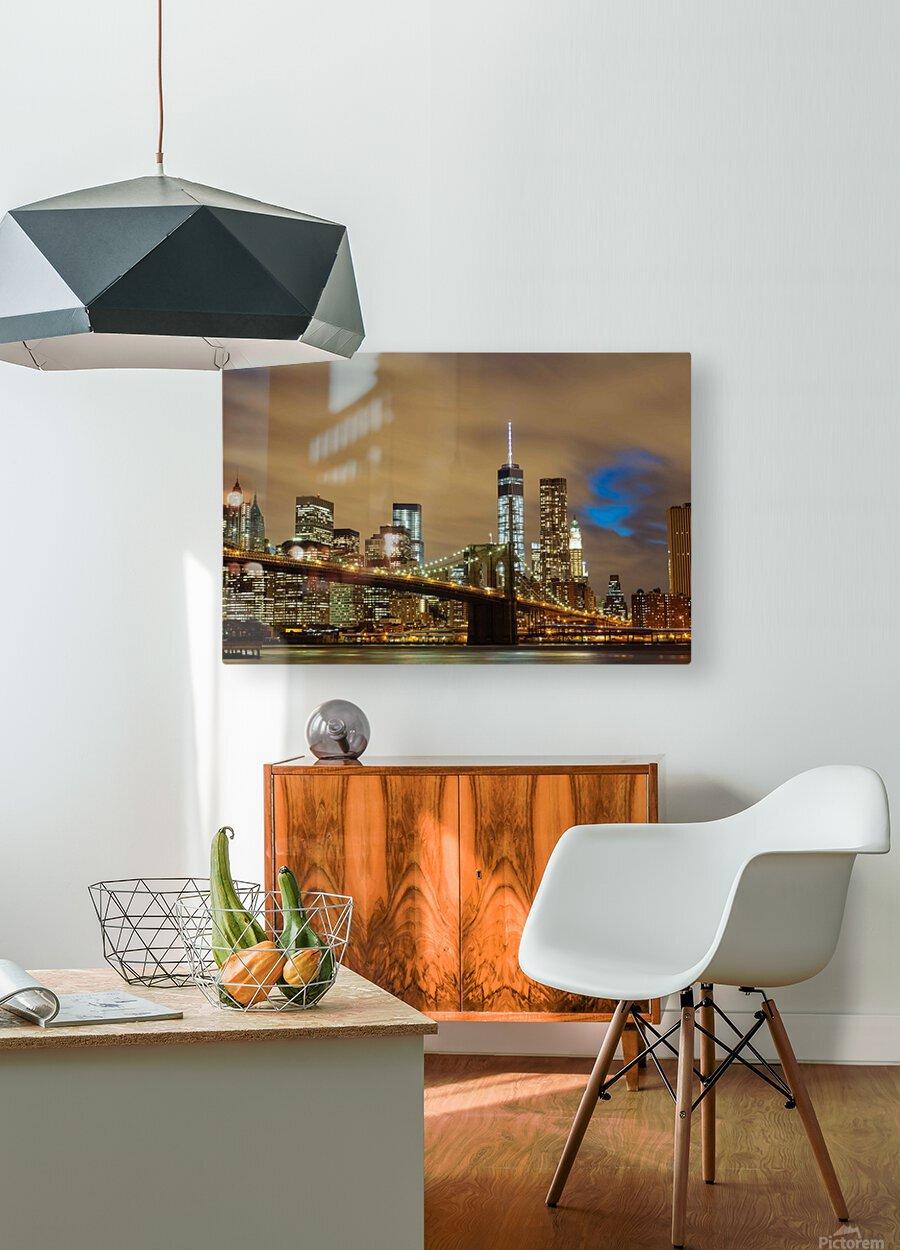 Brooklyn Bridge  HD Metal print with Floating Frame on Back