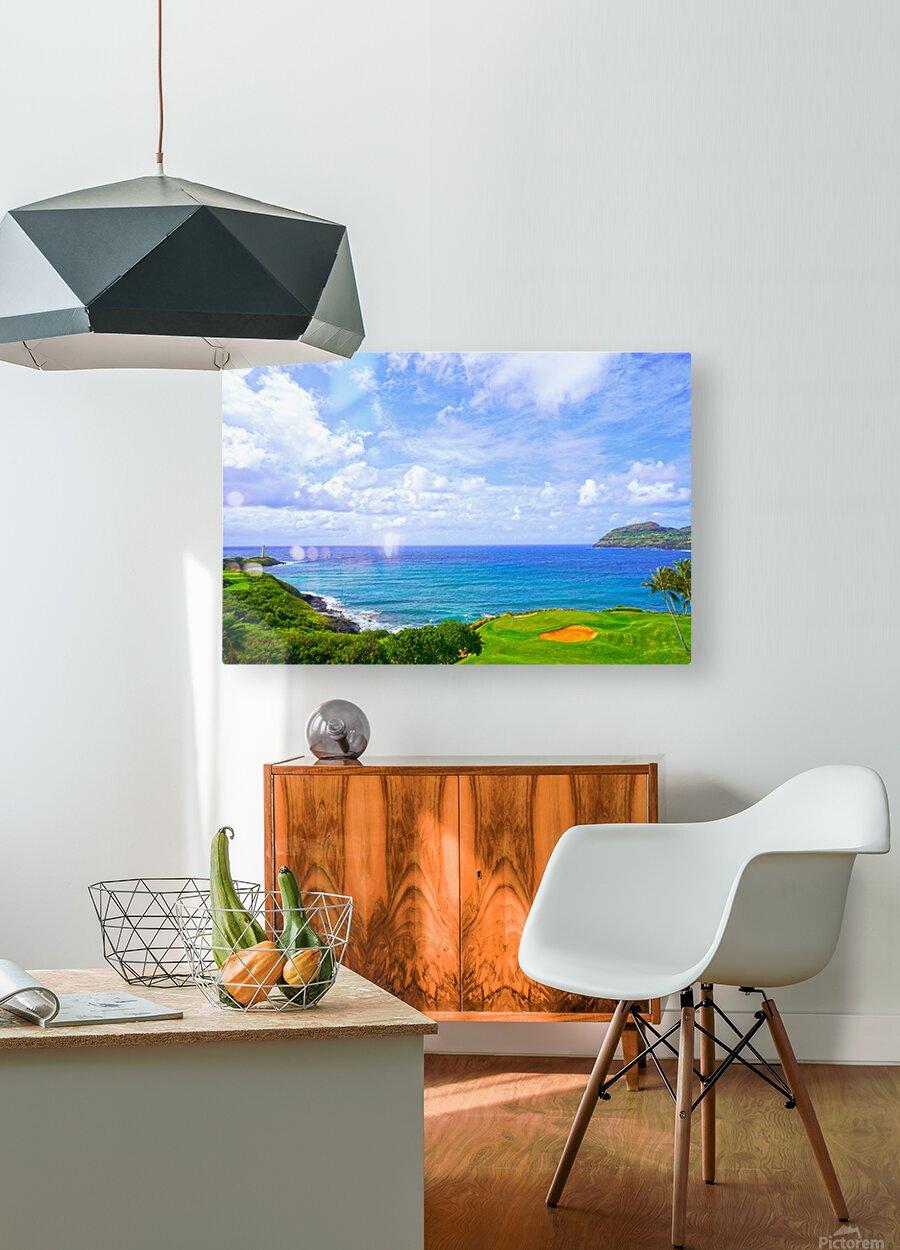 Beautiful Skies over Nawiliwili Bay in Kauai  HD Metal print with Floating Frame on Back