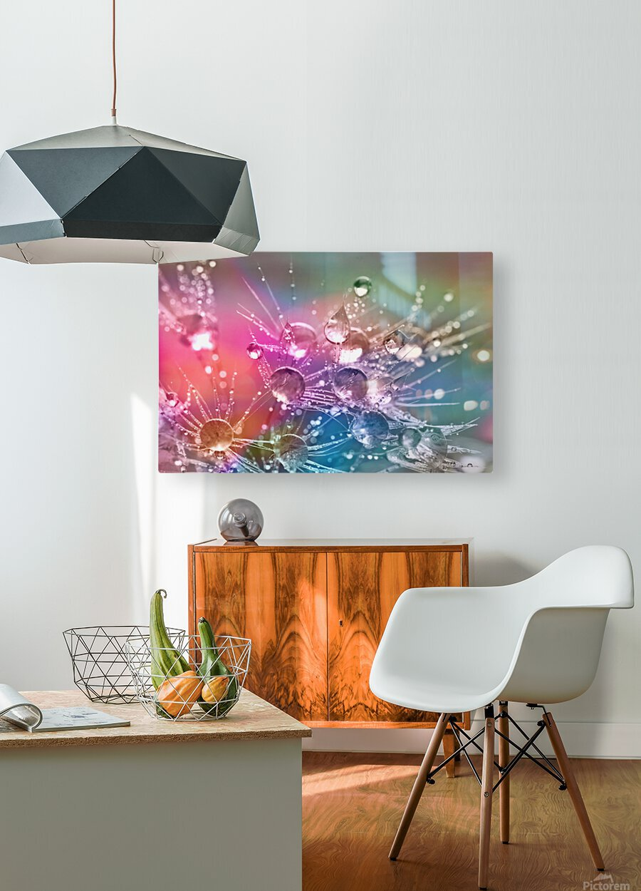 drop of water  HD Metal print with Floating Frame on Back