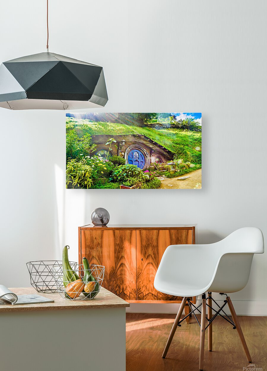 Hobbit Hole  HD Metal print with Floating Frame on Back