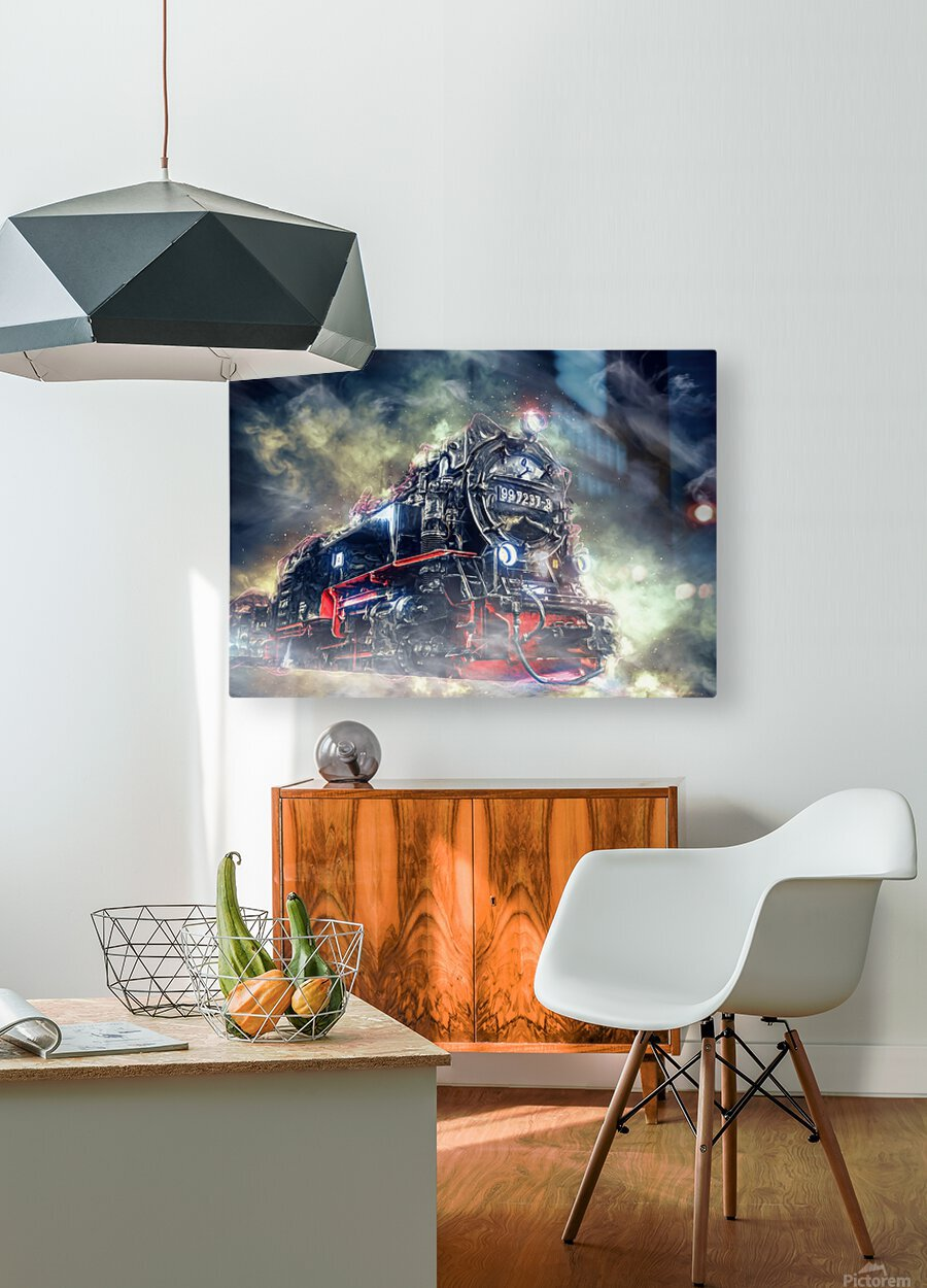 Ghost Train  HD Metal print with Floating Frame on Back