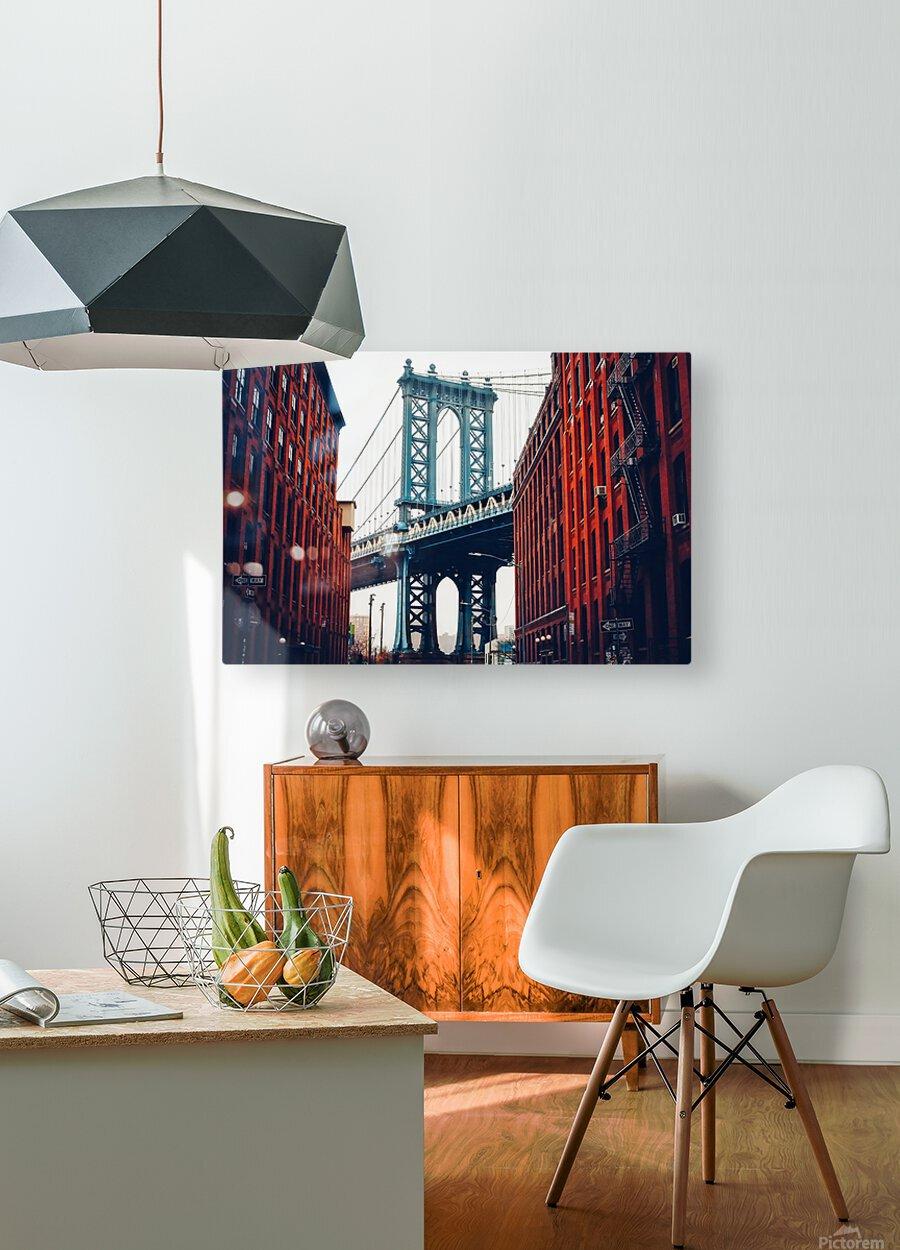 George Washington Bridge   HD Metal print with Floating Frame on Back