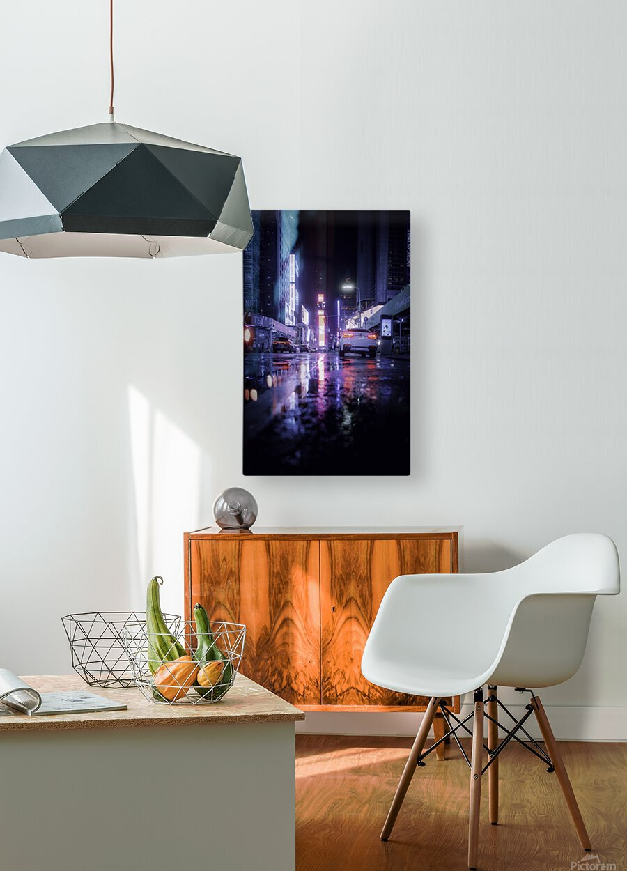 Welcome to Night City  HD Metal print with Floating Frame on Back