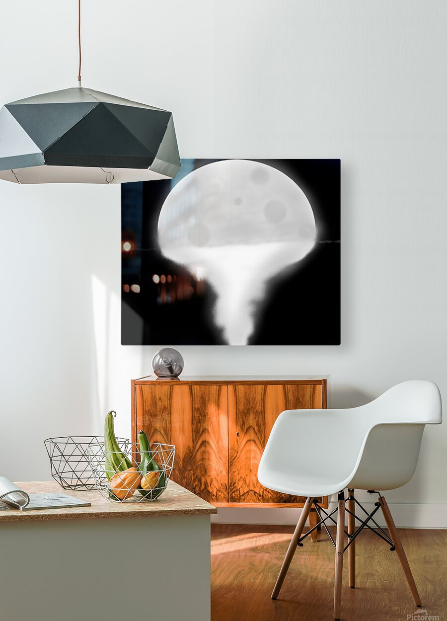 Moon Paint 5  HD Metal print with Floating Frame on Back