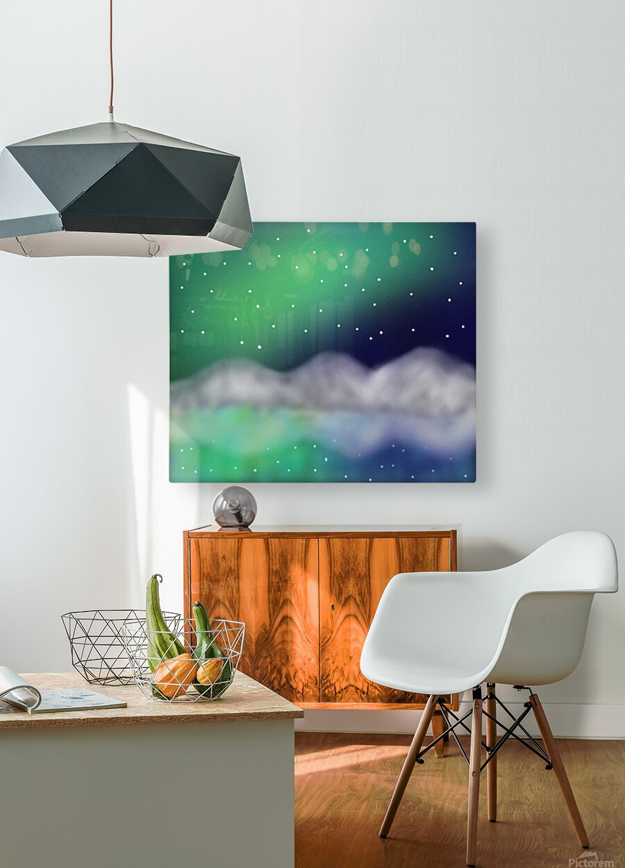 Northern Light 1  HD Metal print with Floating Frame on Back